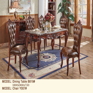 Quartz Royal Style Dining Table and Chair - Dining Table