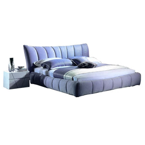 Queen Cozy Gray Soft Bed - Bed