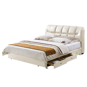 Rivage Upholstered headboard with Nightstand - Bed