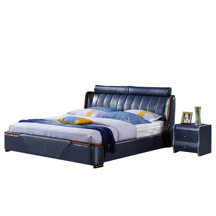 Rockledge Upholstered Panel Bed with Nightstand