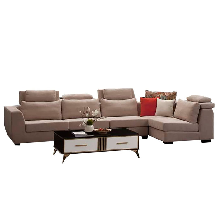 Roomy Right hand Facing sectional Sofa Set