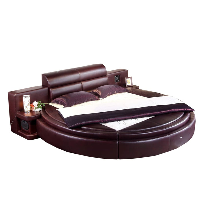 Royal Round Luxury Upholstered Bed