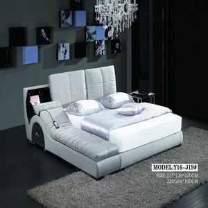 Saintly White king-size Bed and Sofa - Bed