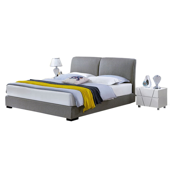 Santa Upholstered Panel Bed with Nightstand