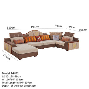 Sectional Sofa With Decorative Modern Style Design - Sofa Chaise