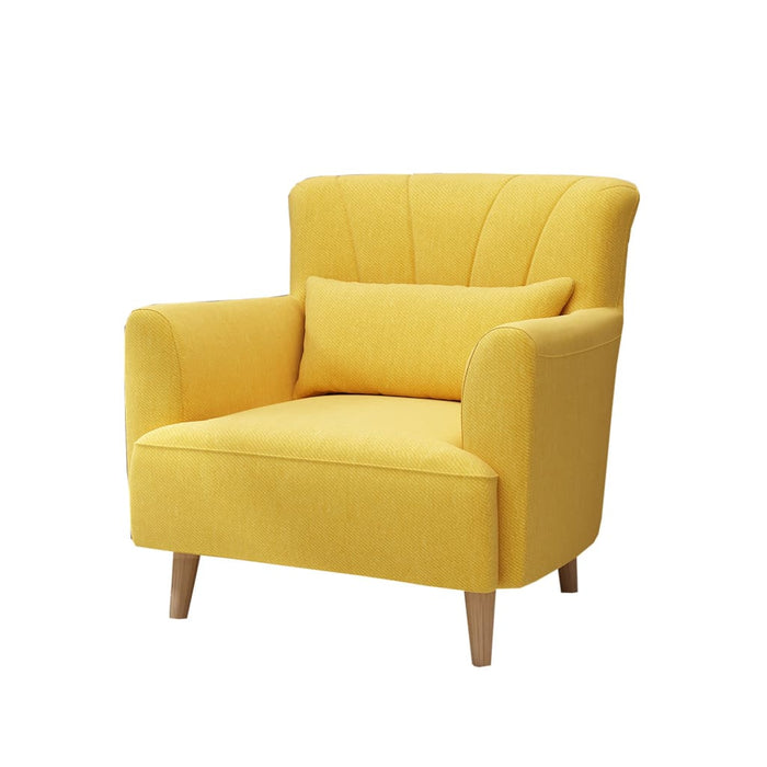 Sophisticated Yellow Lounge Chair
