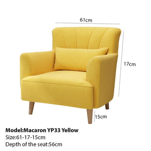 Sophisticated Yellow Lounge Chair - lounge chair