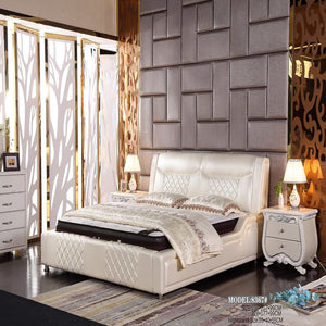 Stella Upholstered Headboard Bed - Bed