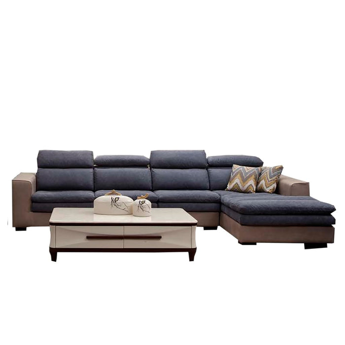 Tilman Tufted Fabric Upholstered Right Sleeper Sofa Chaise