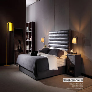 Tribeca Tufted Upholstered Panel Bed - Bed