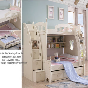 Twin Bunk Bed - Combination Bed