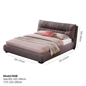 Upholstered king-size Bed - Bed
