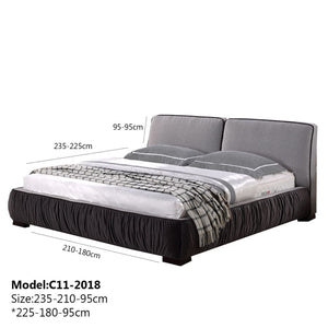 Upholstered Panel Queen-size Bed - Bed