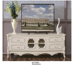 White Antiquate Style TV Cabinet - Tv Cabinet