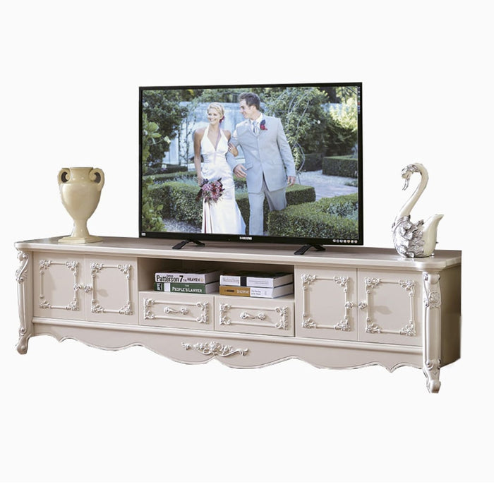 White Antiquate Style TV Cabinet II