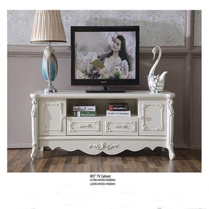 White Antiquate Style TV Cabinet III - Tv Cabinet