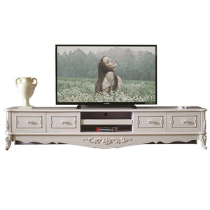 White Antiquate Style TV Cabinet IV - Tv Cabinet