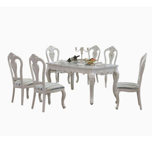 White Royal Style Dining Table and Chair - Dining Table