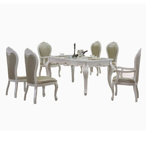 White Royal Style Dining Table and Chair II - Dining Table
