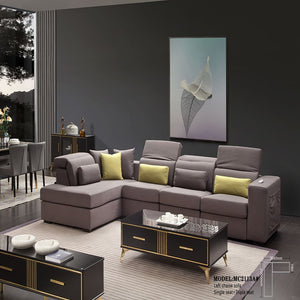 Wilmer Upholstered Fabric Sectional Sofa - Sofa Chaise