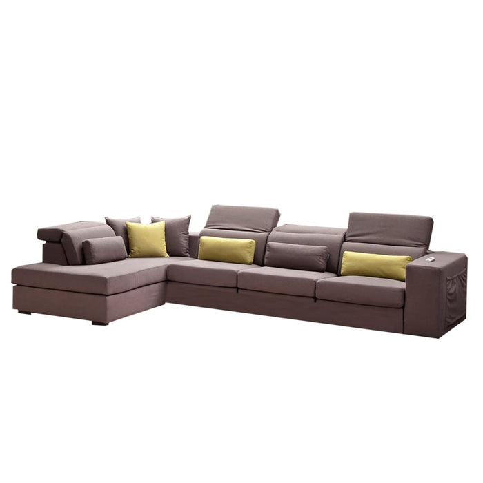 Wilmer Upholstered Fabric Sectional Sofa