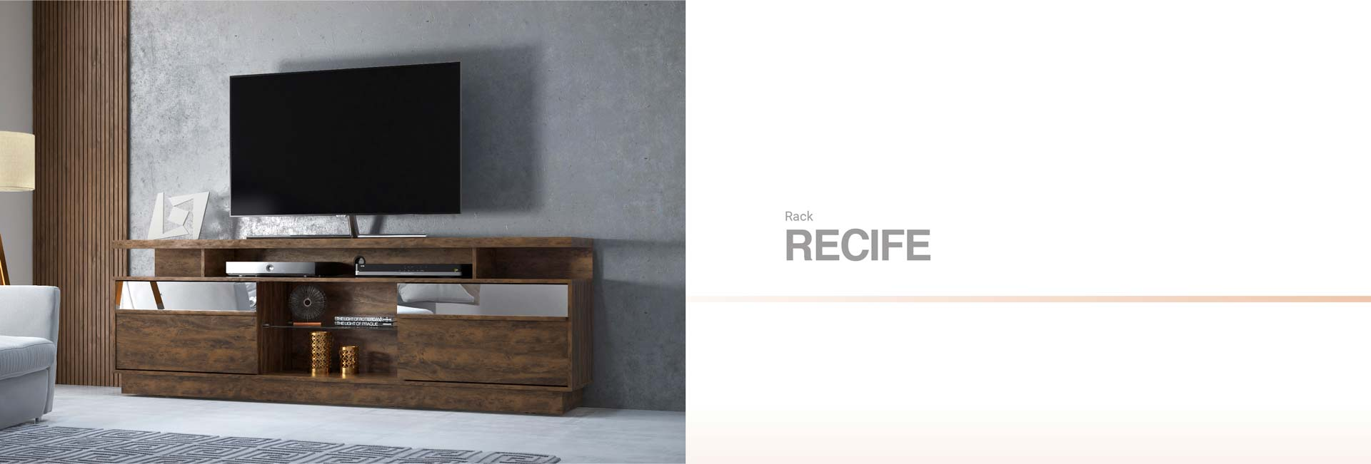 Meuble TV RACK RECIFE