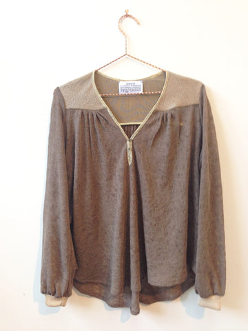 Bohème blouse in taupe