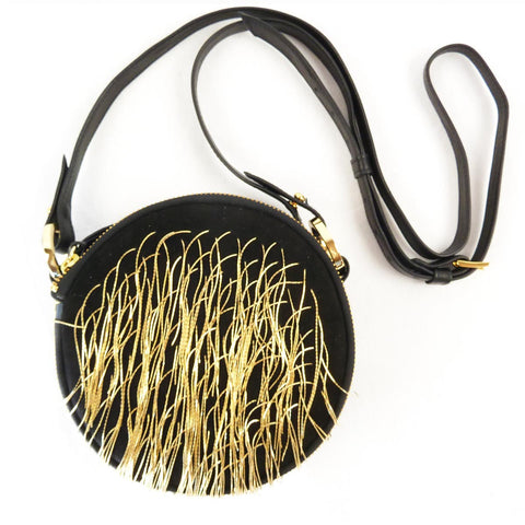 Clou gold chain purse