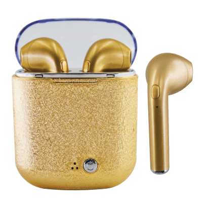 Gold Glitter Ear Buds