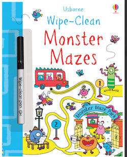 Wipe-Clean Monster Mazes