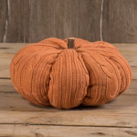 "10"" Orange Knit Pumpkin"