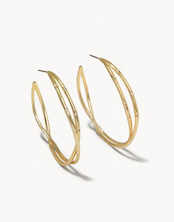Sprinkles Hoop Earrings Crystal