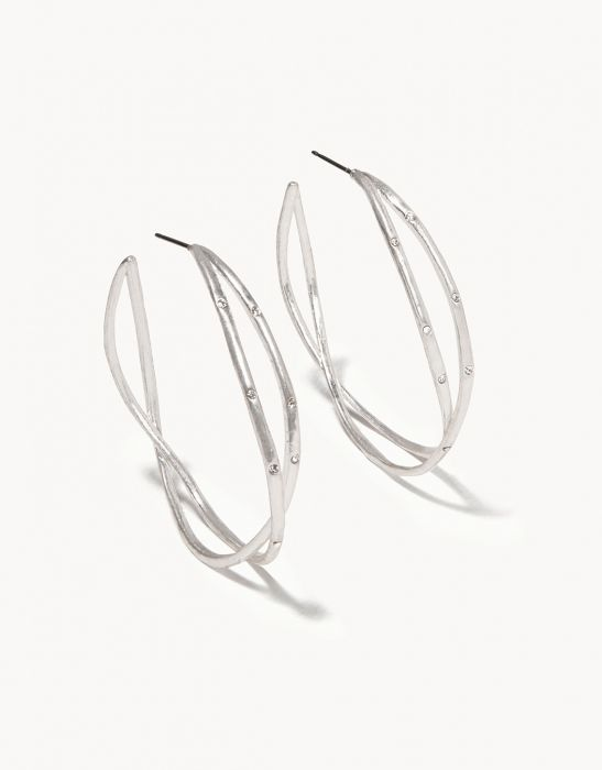 Sprinkles Hoop Earrings Silver