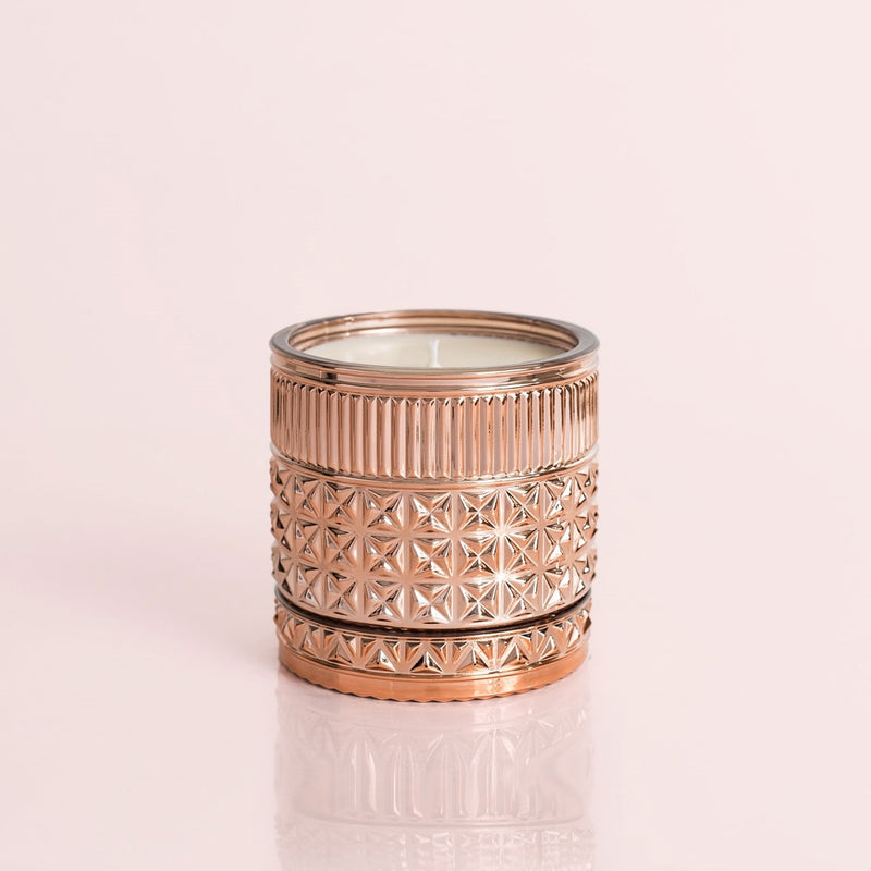 Pink Grapefruit Rose Gold Faceted Jar