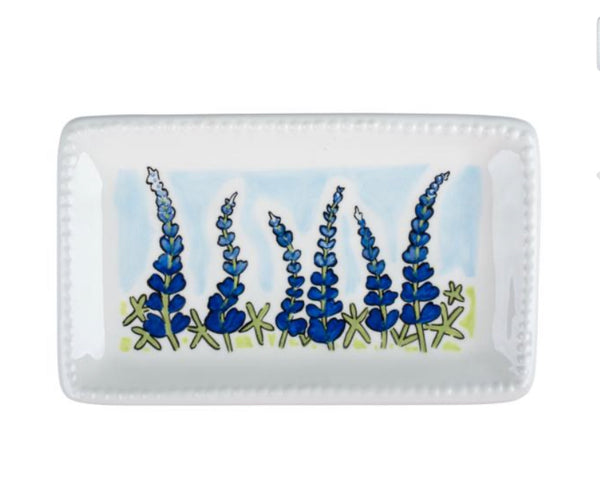 Blue Bonnet Trinket Tray