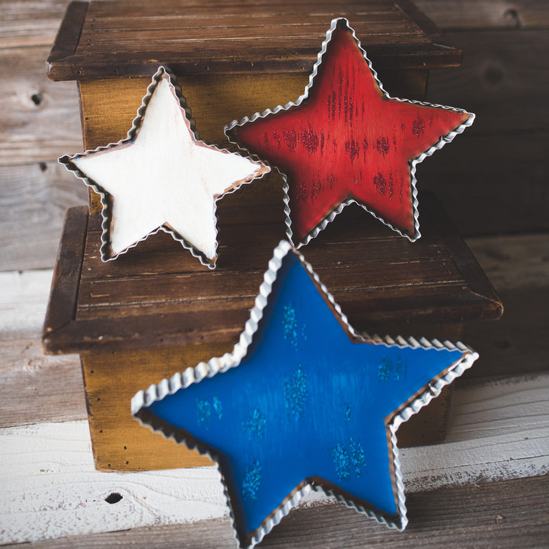 Pie Crust Stars, Set of 3