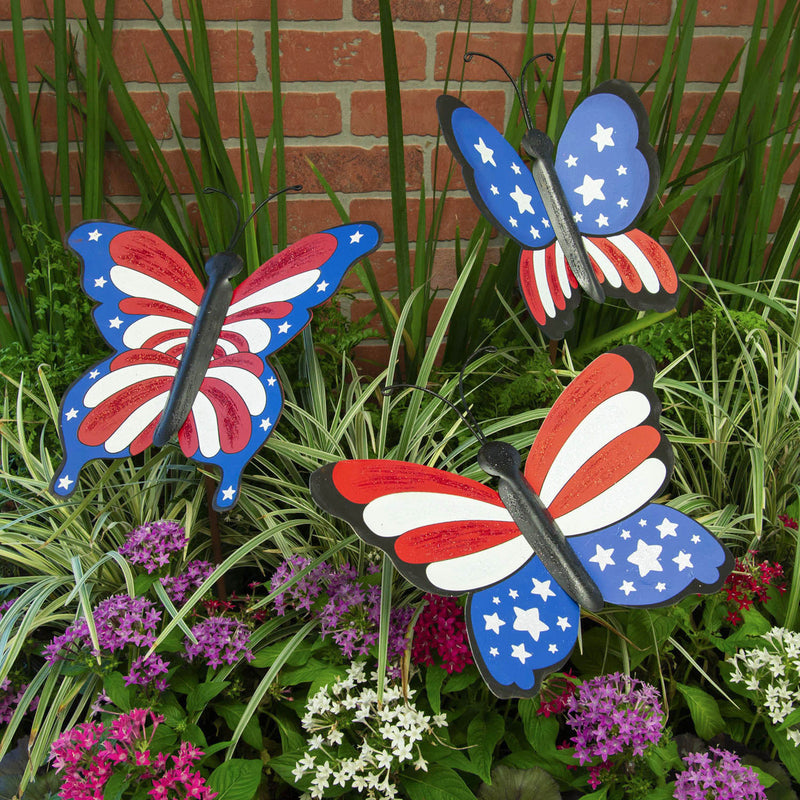 Patriotic Butterflies Set of 3