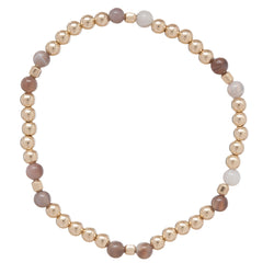 Essence Pattern Gold Bead Bracelet 4mm Dignity Gold