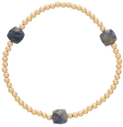 Seasons Pattern 3mm Bead Bracelet Sodalite