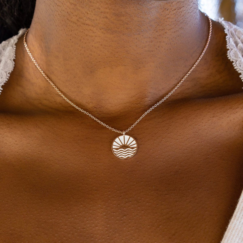 Sunrise to Sunset Necklace Rose Gold