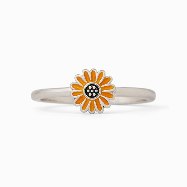 Enamel Sunflower Ring 7