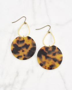 Etch Earrings Brown