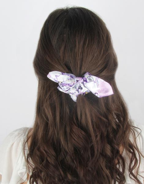 Pansy Brocade Bow Scrunchie 3 Pack