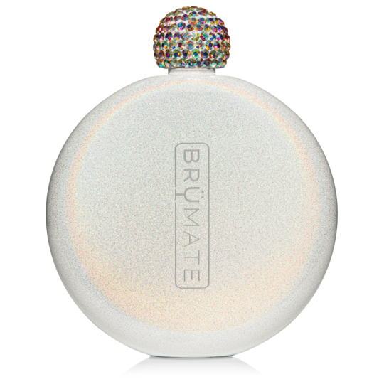 Glitter Flask Ice White