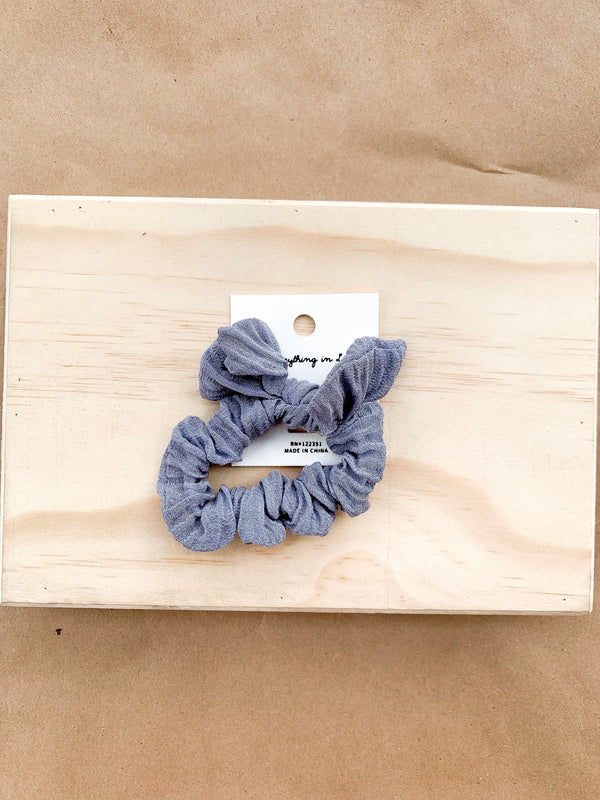 Woven Scrunchie with Bunny Tie