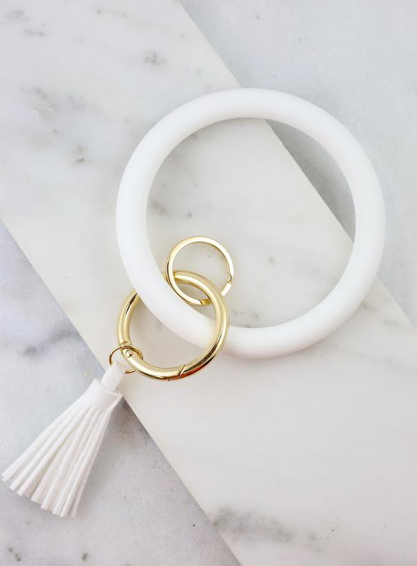 Darcey Bangle Keychain White