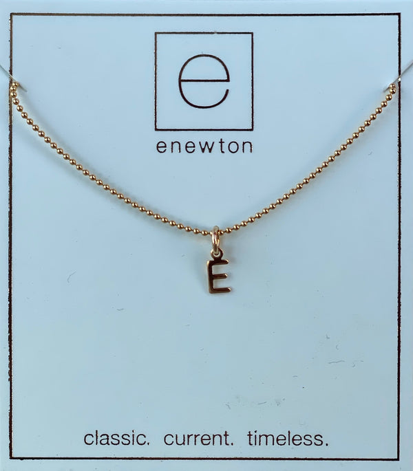 Respect Gold Charm Necklace E