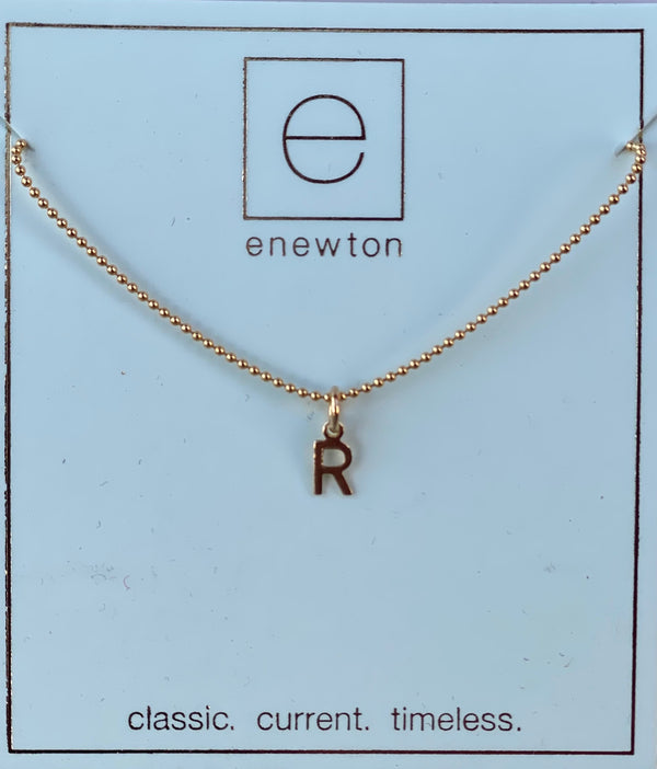 Respect Gold Charm Necklace R