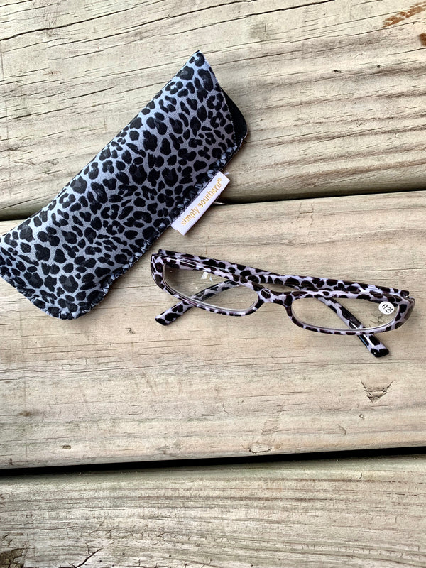 Reading Glasses Black Cheetah