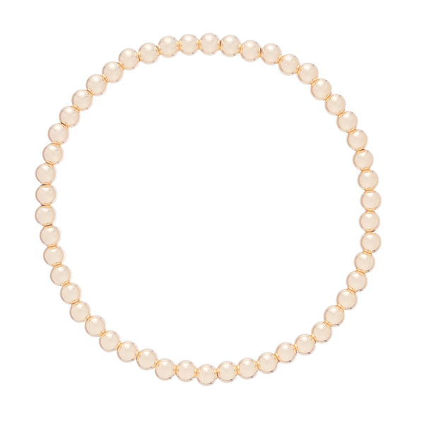 Classic Gold 4mm Bead Bracelet